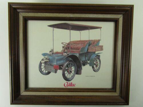 Vintage Framed Jerome D Biederman Cadillac Color Print