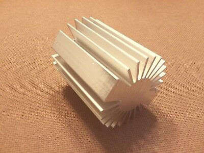2 Inch Diameter Heat Sink Aluminum. Round. 2.0 X 3.0. Low Thermal Resistance.