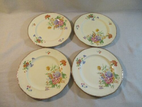 """Lot of 4 Alfred Meakin Epworth England  9"""" Salad / Luncheon Plates in Excellent"""