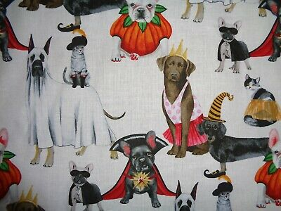 Cotton white fitted crib sheet Halloween Dogs/Cats in costumes