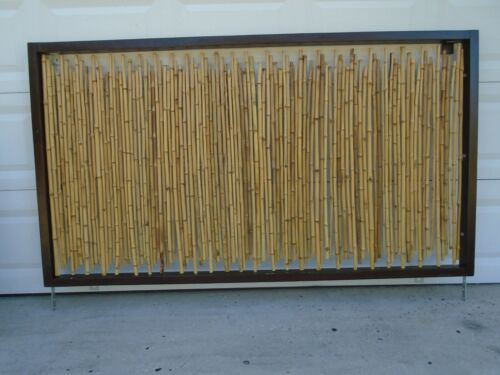 Art Bamboo King Size Headboard Rattan Hollywood Modern Tropical Beach Screen