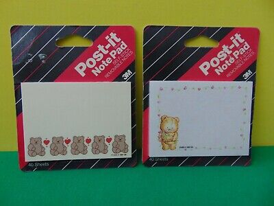 Lot Of 2 3m Post It Note Pad Teddy Bear Hp 896 Hp 922 Made In Usa New Sealed