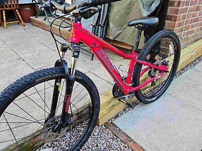 Female Girls mountain bike size 13 front suspension disc brakes 27.5 wheels VGC