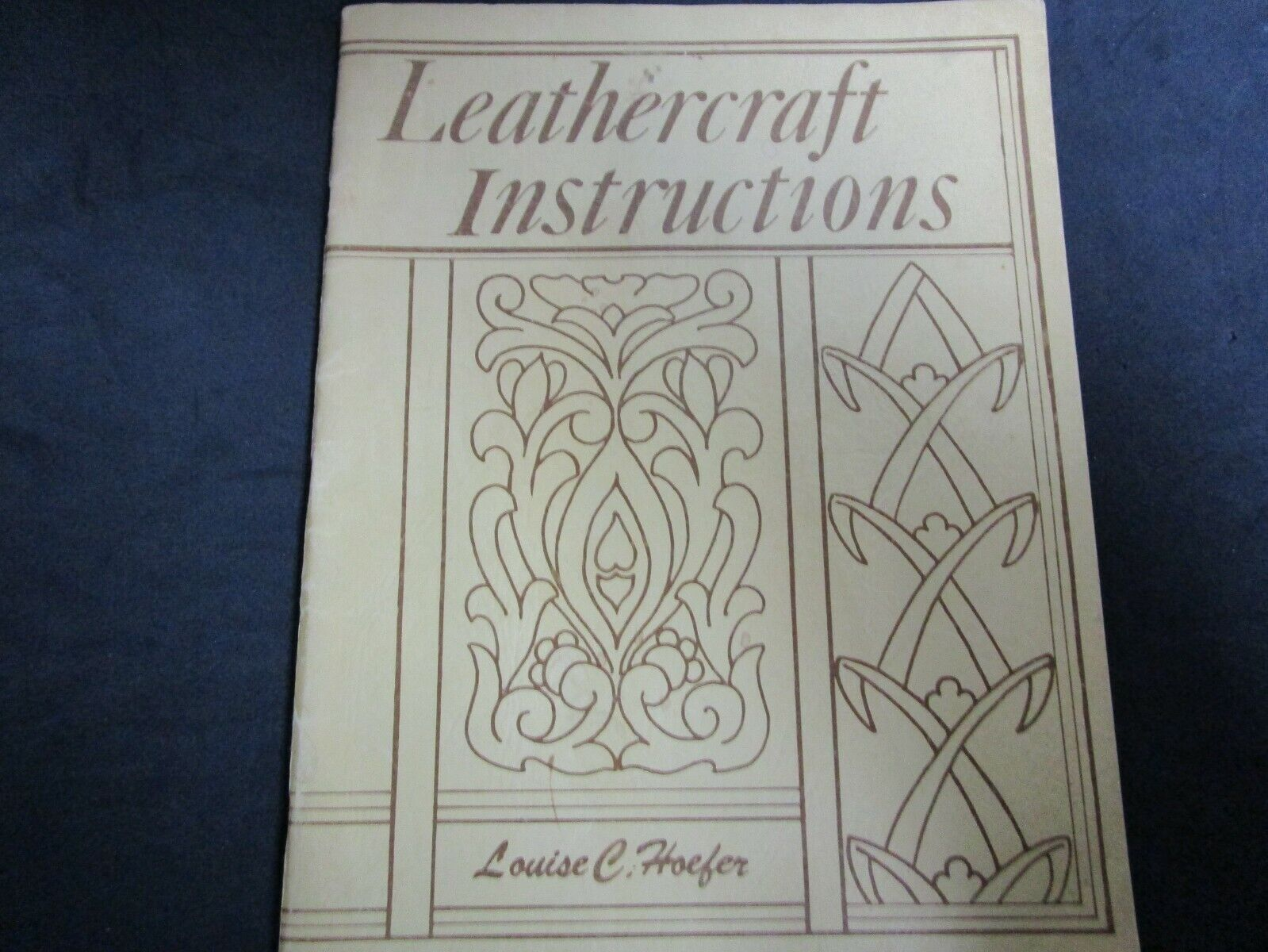 Vintage Leather Book-Leathercraft Instructions By Louise Hoeffer. Dated 1946. - $14.99