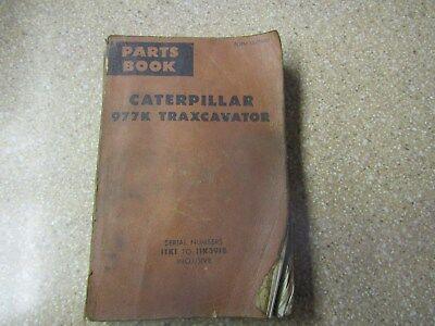 Caterpillar Cat 977k Crawler Loader Parts Book