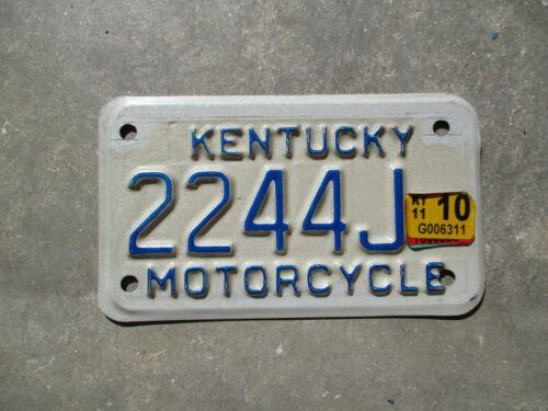 Kentucky 2011 motorcycle license plate #  2244 J
