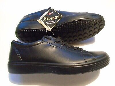 NEW ECCO Soft 7 Low Gore-Tex Men's Size 8.5 Shoes Fashion Sneaker Black