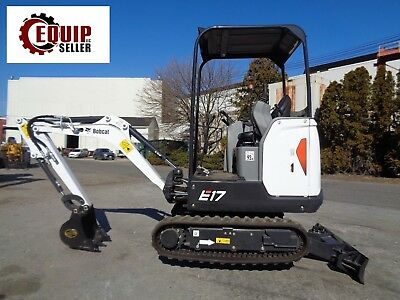 Unused New - 2017 Bobcat E17 Mini Excavator Backhoe Loader - Diesel