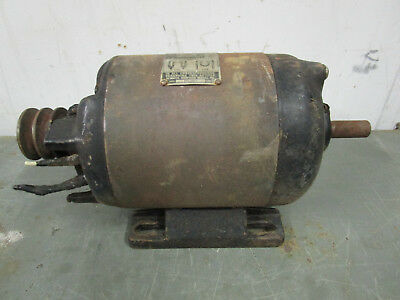 Vintage Craftsman 34th Hp Induction Electric Motor 3450 Rpm Dual Shaft