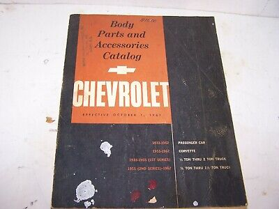 1962 Chevrolet body parts and accessories catalog FREE SHIPPING
