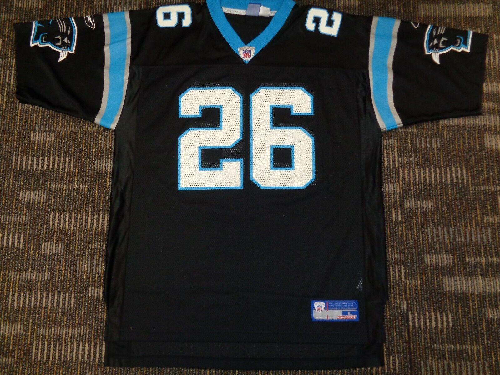 LOT-WESLEY WALLS LAMAR SMITH CAROLINA PANTHERS REEBOK BLACK NFL GAME JERSEYS L - $59.99