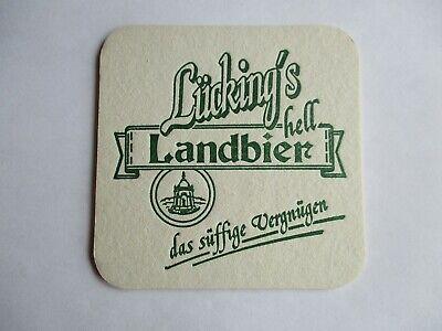 Porta Westfalica. einseitiger Bierdeckel der GHB Brauerei Lücking