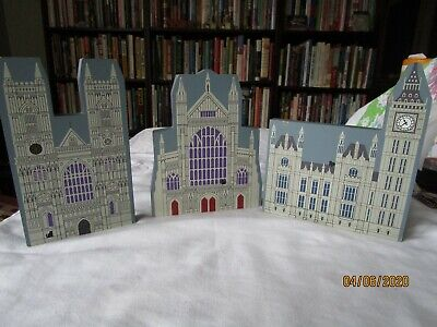 lot of 3 1995 Cat's / Cats Meow Village HOUSE OF PARLIAMENT London Series