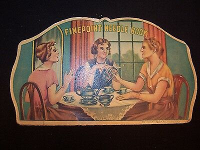 Vintage Sewing Finepoint Needle Book Japan 1930's