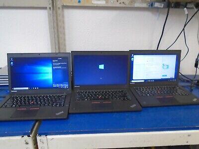 "Lot of 3 Lenovo T450 14"" Laptops   i5-5200u 2.20GHz 4GB 500GB SATA Win 10 NO AC"