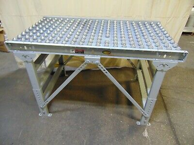 Hytrol Ball Gravity Roller Conveyor Section With Legs