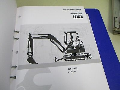 Volvo Ecr28 Excavator Service Repair Manual