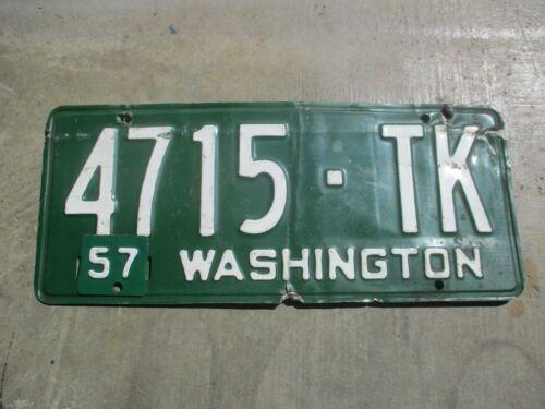 Washington 1954 / 57 license plate #  4715 - TK