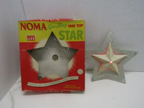OLD VINTAGE NOMA SPARKLING STAR TREE TOPPER CHRISTMAS HOLIDAY DECORATION