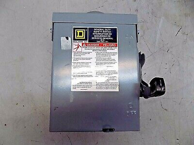 Square D Fused Safety Switch 2-pole 3r Nema Rated Dpst Contact Form D221nrb