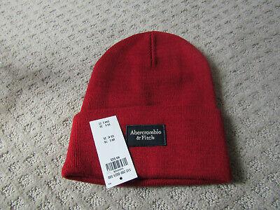NWT   Abercrombie mens/  womens Hat Beanie maroon