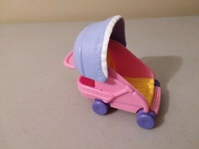 Fisher Price MY FIRST DOLLHOUSE NURSERY BABY STROLLER buggy Loving Family 2006