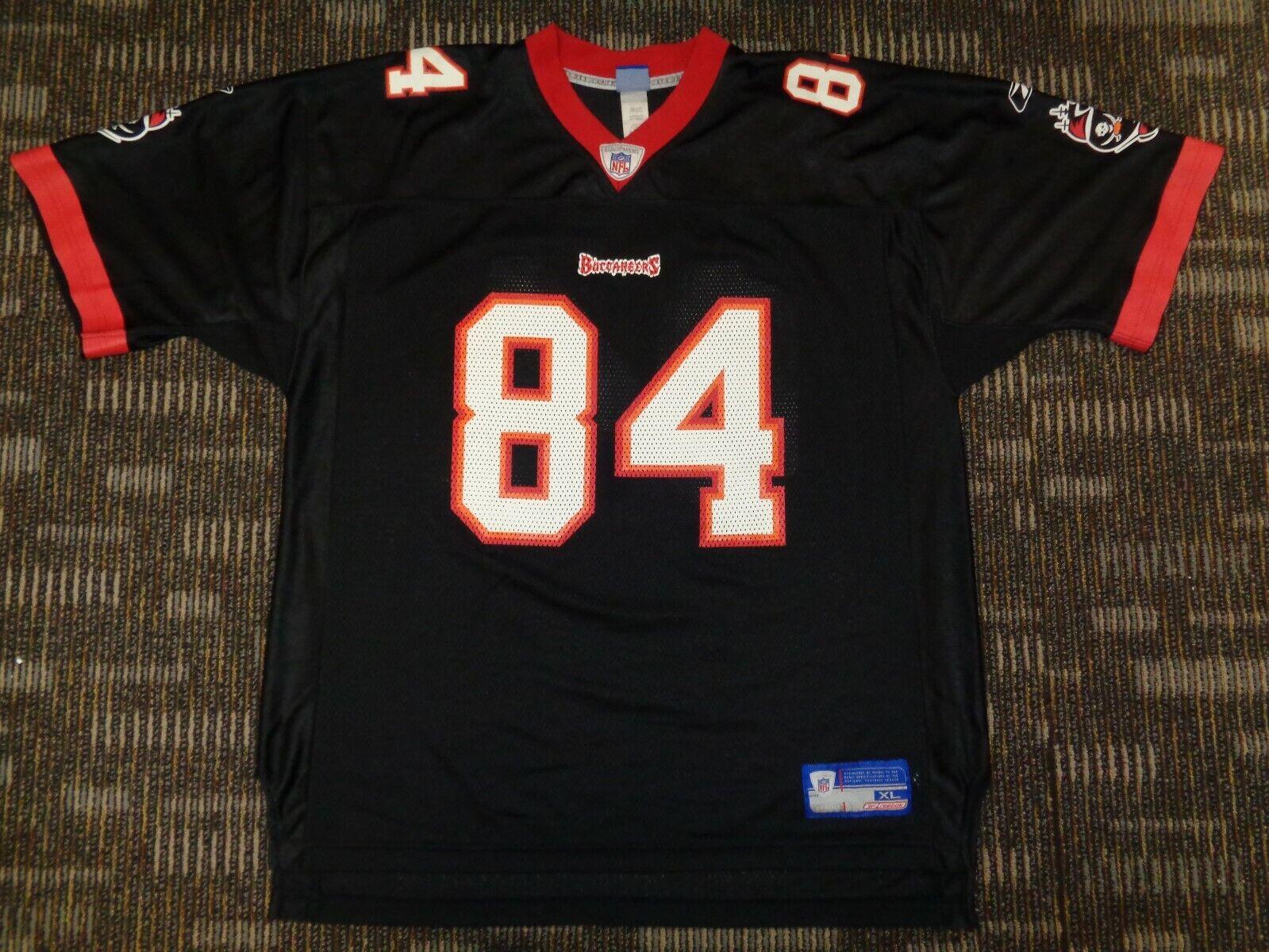 JOE JOEY GALLOWAY 84 TAMPA BAY BUCCANEERS REEBOK BLACK NFL GAME FOOTBALL JERSEY - $49.99