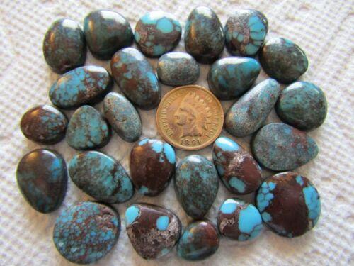 26 Egyptian Turquoise Cabochons 170 carats Spiderweb Web Turquoise Egypt