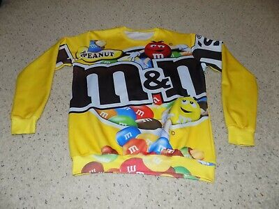Vintage Adult 3XL M&M Yellow Sweatshirt w/ Red & Yellow Characters on It