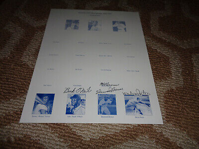 Signed Negro Leauge Monarchs Photo Buck O'Neil Porter Buncan Brewer Autograph