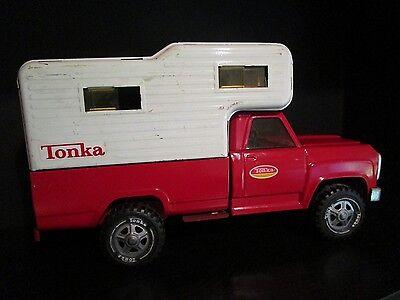 Vintage Tonka Camper Pickup truck 1960s Vintage Red Tonka Camper Truck NICE!!
