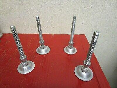 Lot Of 4 Takigen Adjustable Leveling Machine Table Leg Foot Feet M12 1.75 Thread