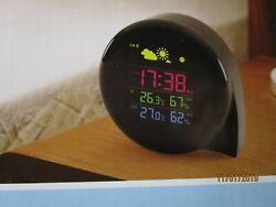 Comma Shape Wireless Outdoor Weather Station Digital Alarm Table Alarm Clock