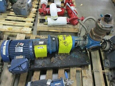 Viking Pump K224a 7.5hp Motor 80gpm 200psi Used