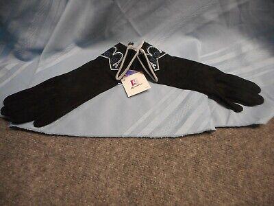GRANDOE WOMEN'S GLOVES SIZE 7.5 SILK LINED BLACK  Grandoe Lined Gloves