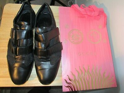 Gucci UK 9 EU 43 E Guccissima BLACK  Leather shoes  RRP £390.00 for sale  Shipping to South Africa