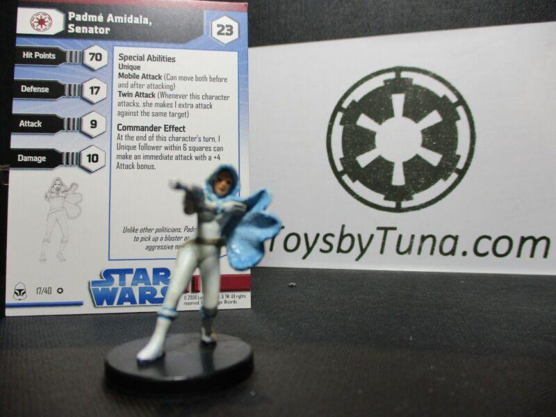 Star Wars Miniatures Padme Amidala, Senator Clone Wars w/ Card mini RPG Legion