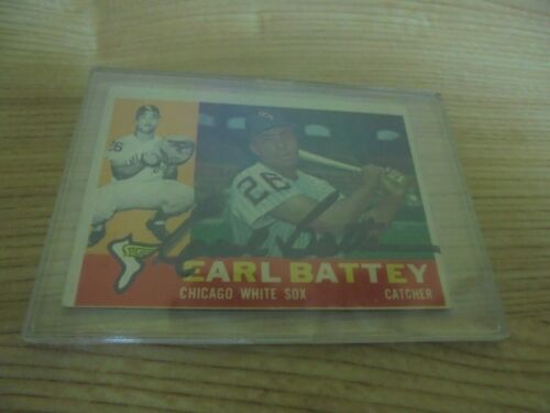 1960 TOPPS #328 EARL BATTEY CHICAGO WHITE SOX SIGNED AUTOGRAPHED