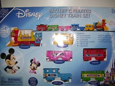 Disney Train Set 54 Pieces Battery Operated Mickey Mouse Minnie Mouse 3016
