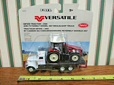 Versatile 290 With Peterbilt Dealership Truck By Ertl 1/64th Scale >