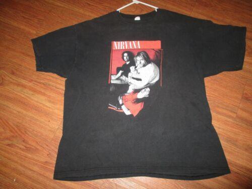 VINTAGE NIRVANA CONCERT TOUR SHIRT PREOWNED 2X ANVIL 1990S RARE ORIGINAL