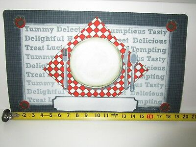 DIY Personalized Pet Food Place Mat Dog Cat Dinner Plate Fork Knife Spoon