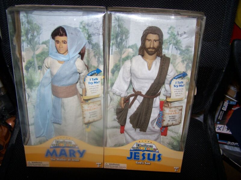 Tales of Glory Talking Dolls Mary-Mother of Jesus and Jesus-Gods Son Both Recite
