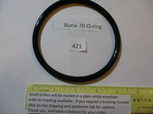 "421 O-ring 4"" ID x 4-1/2"" OD x 1/4"" thick.  Buna-70.  Quan 1."