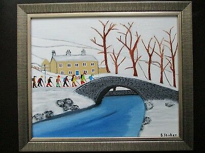 ( the rambling club )northern art framed oil painting by barry stokes