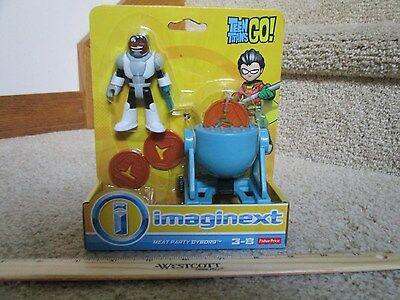 Fisher Price Imaginext New Teen Titans Go Meat Party Cyborg steak disk grill toy