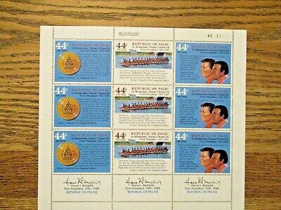 Palau Honoring First President Lot of 4 Souvenir Stamp Sheets of 9v each MNH OG