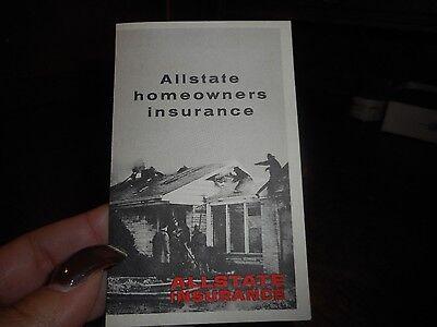 Vintage Allstate Homeowners Insurance Brochure