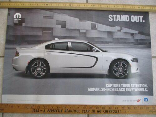 """MoPar Dealership Poster - MoPar - Charger - Franchised Dealer Item - 24"""" x 16"""""""