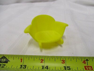 Vintage playskool hasbro weebles yellow rocking chair low back toy part piece